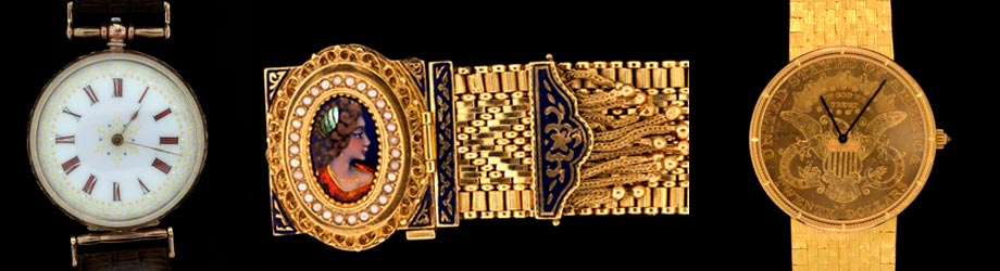 Mens Wrist Watches Gold Bands